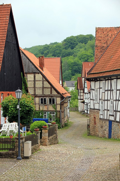 Road, City, Village, Nostalgia, Homes, Building, Truss