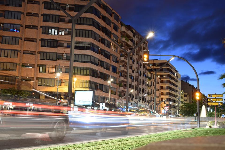 Cars, Lights, Night, City, City lights