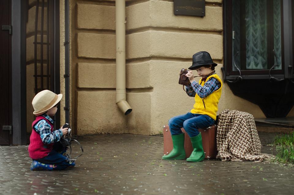 Camera, Boys, Hat, Kids, Baby, Kid, Street, City, Child