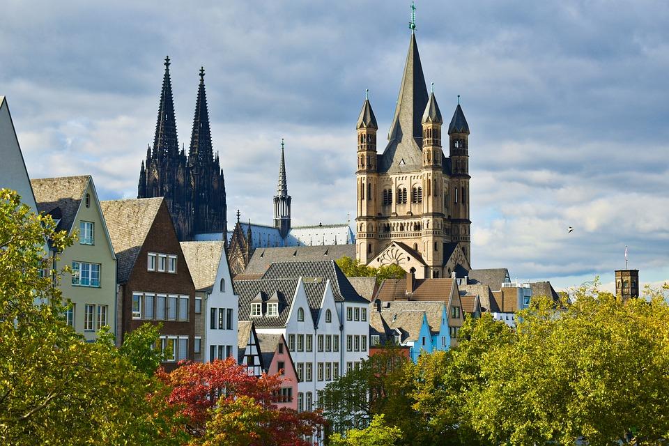 Church, Buildings, Towers, Village, Urban, City, Koeln