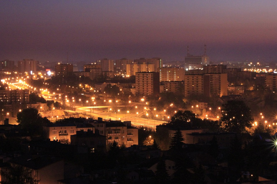 Lublin, Panorama, City, City At Night, Lubelskie