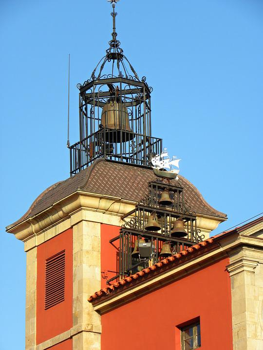 Bell Tower, City Hall, Campaign, Tower, City, Avilés