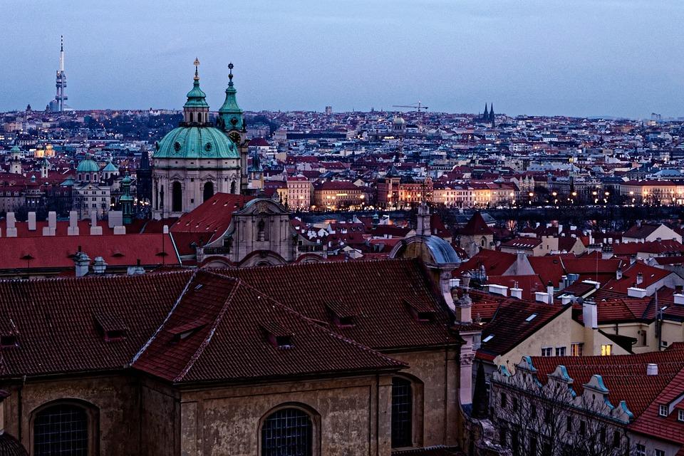 Prague, Czech Republic, City, History, Lock, Panorama