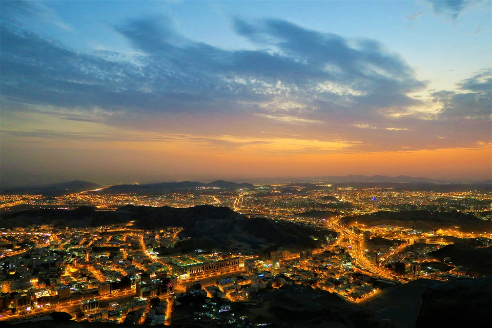 City, Night, Horizon, Dawn, Architecture, Lights, Urban