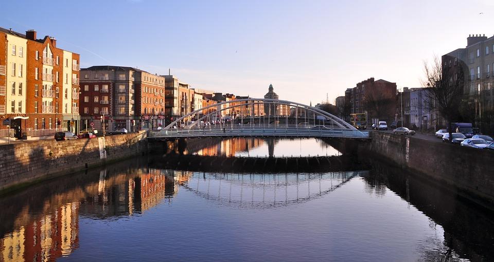 Bridge, Dublin, Ireland, Eire, City, Canal, River