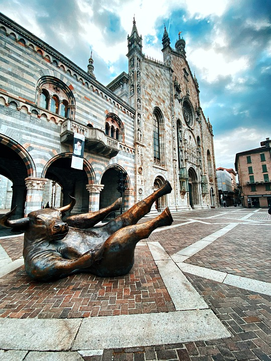 Como, Italy, Duomo, Church, City, Sky, Monument