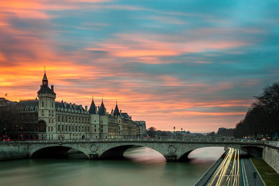 Architecture, Bridge, Building, Castle, City, Dusk
