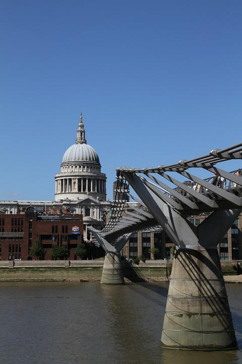St, Paul, Cathedral, London, Thames, City, England, Uk