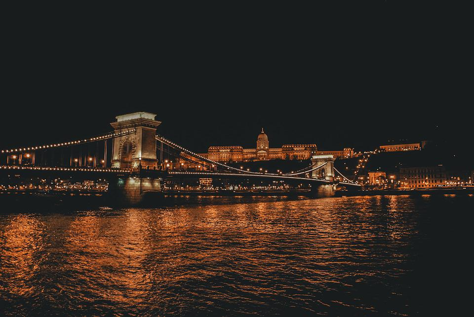 Budapest, Europe, Night, Danube, Famous, Capital, City