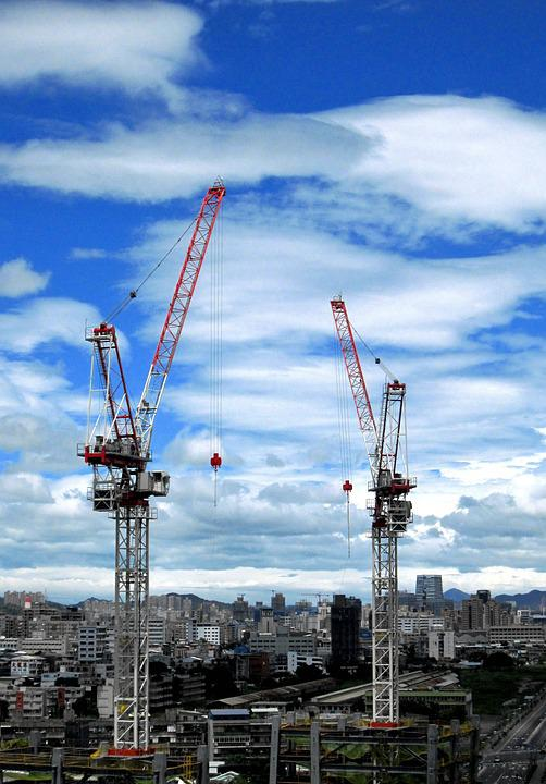 Industry, Crane, Sky, Expression, City, Construction