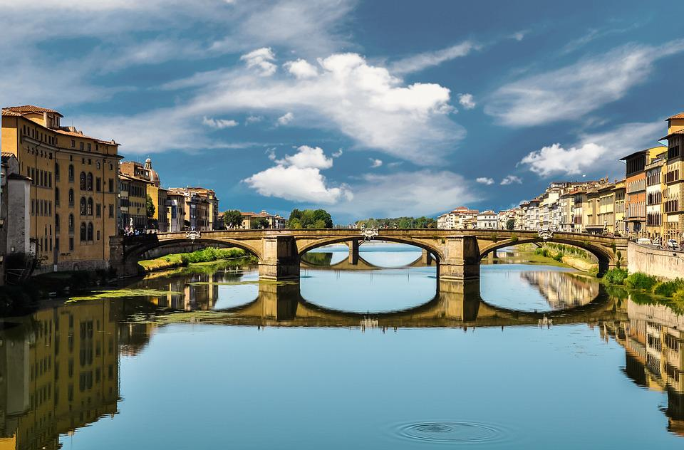 Bridge, Florence, Italy, River, City, Water, Old