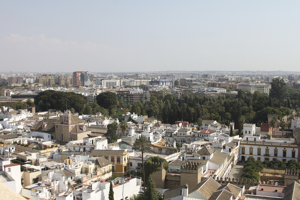 City, Seville, Spain, Andalusia, Homes, From Above