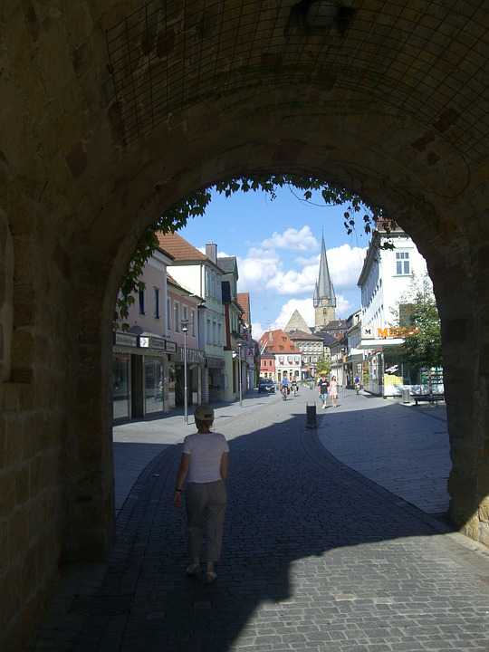 City Gate, Intake, Light, Shadow, Lichtenfels