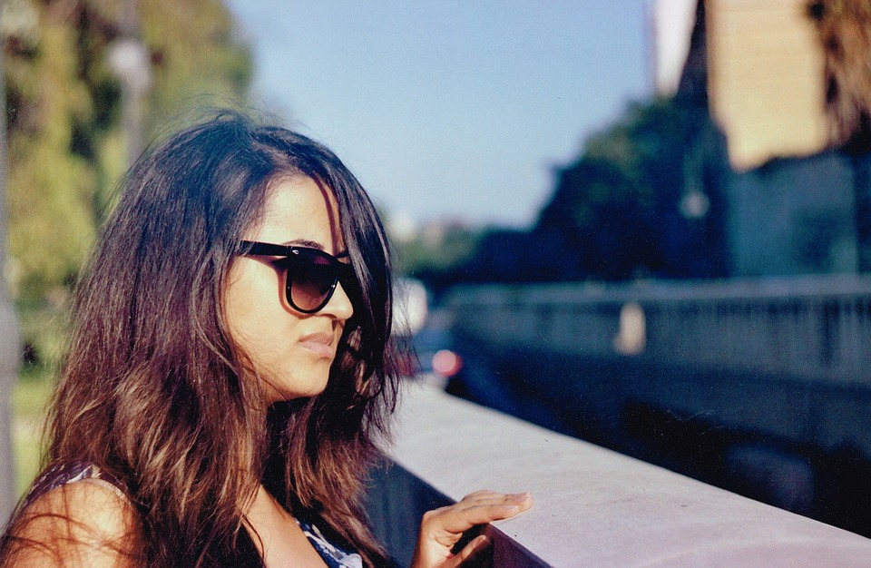 Girl, Sun, Summer, City, Architecture, Light, Glasses