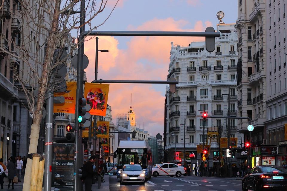 Madrid, Gran Vía, Capital, City, Architecture, Urban