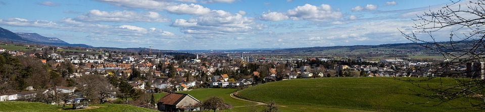 Grenchen, City, Landscape, Panorama