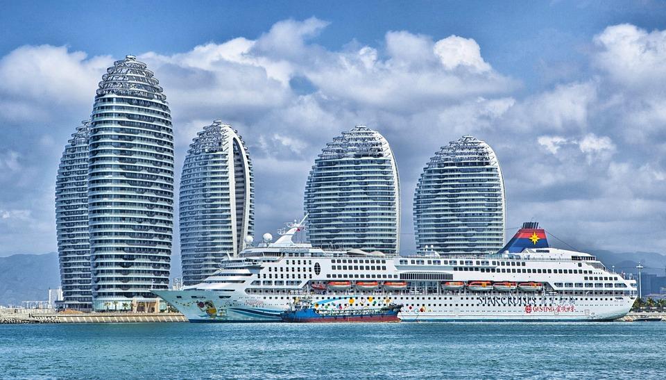 Ship, Hainan, China, Skyline, Ocean Liner, Hdr, City