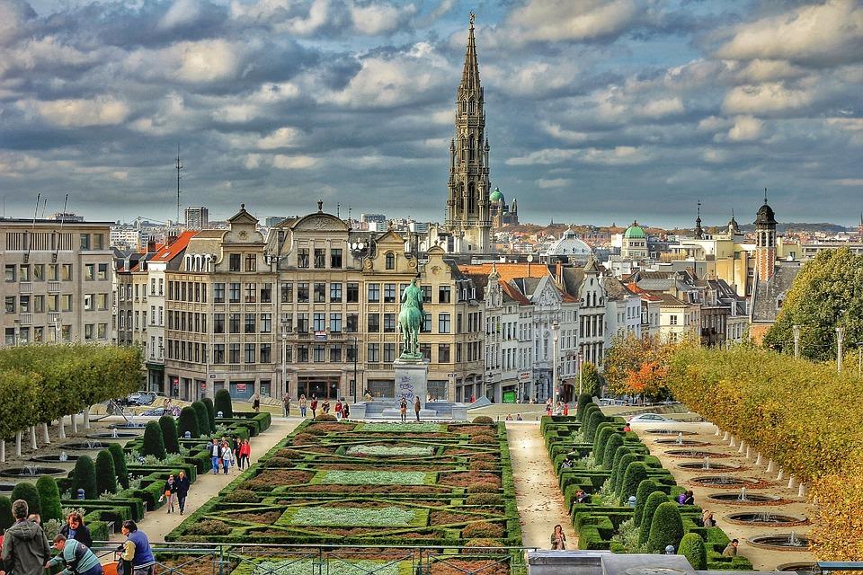 Brussels, Plaza, City, Belgium, Hdr