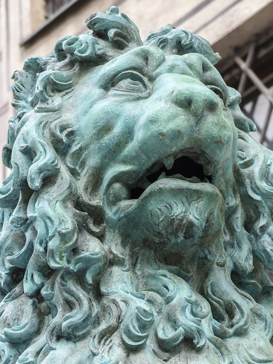 Lion, Statue, Head, Sculpture, Munich, Bavaria, City