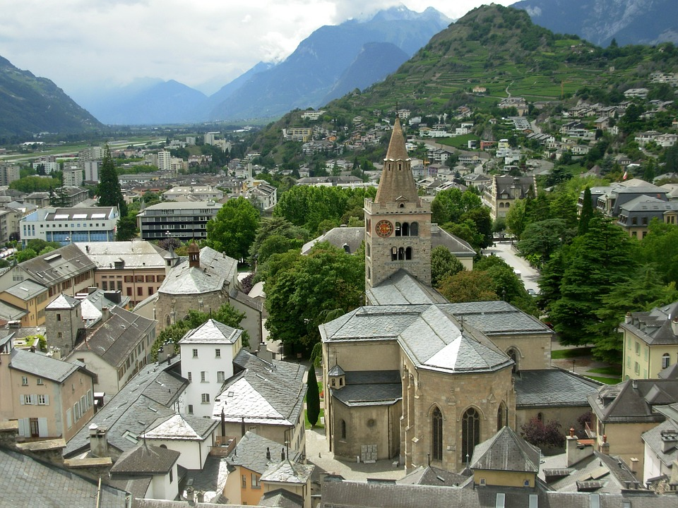 Old Town, Sion, Switzerland, City, Historic, District