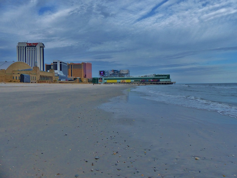 Atlantic, City, Ocean, Boardwalk, Hotels, Casino