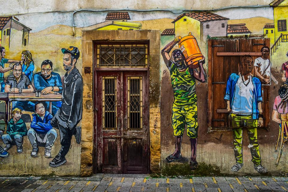 Graffiti, Street, People, Culture, Immigration, City