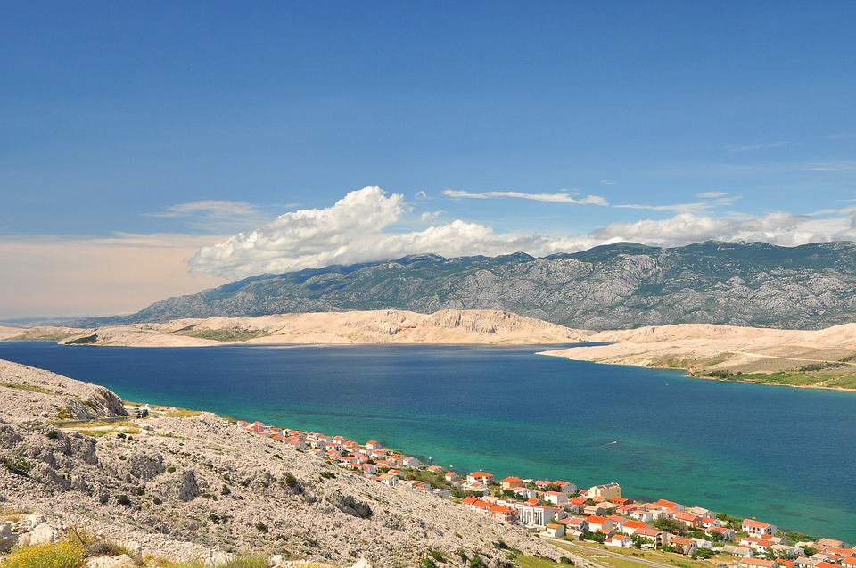 Island Of Pag, Direction Velebit, City, Landscape