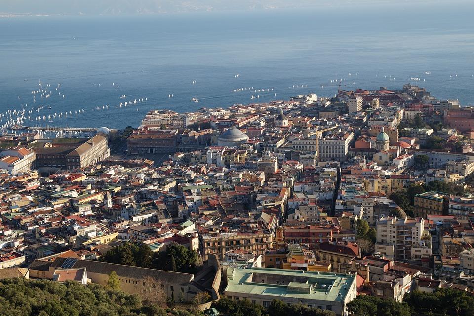 Naples, Italy, Italia, City, Townscape, Panoramic