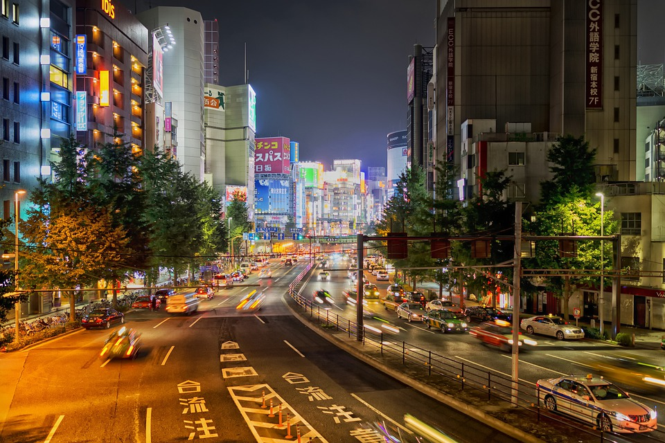 Tokyo, Japan, City, Cities, Urban, Street, Architecture