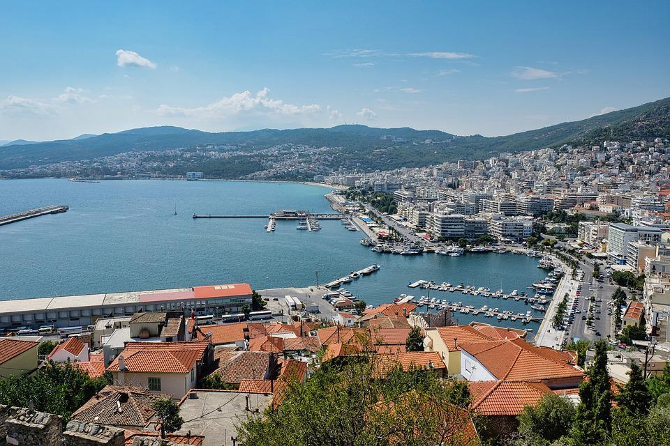 Sea, Coast, Kavala, City, Greece, Landscape, Aegean