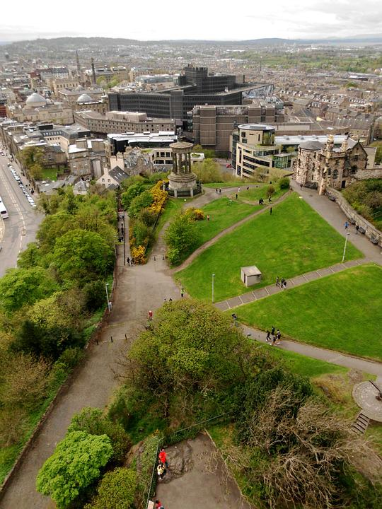 Calton Hill, Edinburgh, Landscape, City