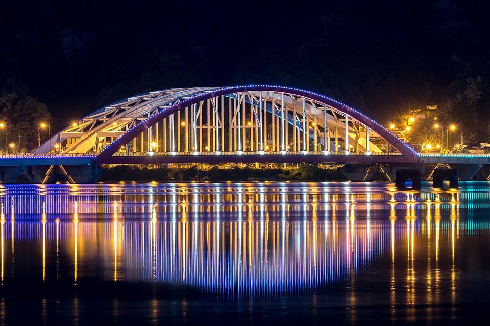 Chuncheon, Landscape, Night View, Lighting, City, Night