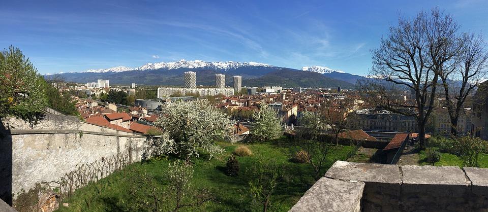 Landscape, Panoramic, City, Park