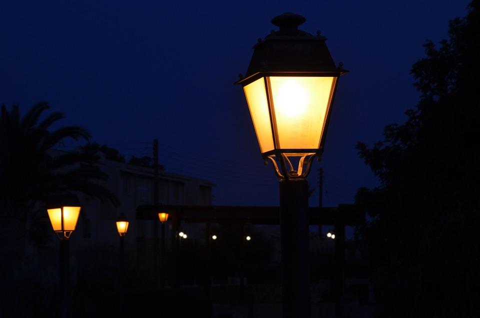 Lantern, Night, Dark, Light, Road, Fantasy, City