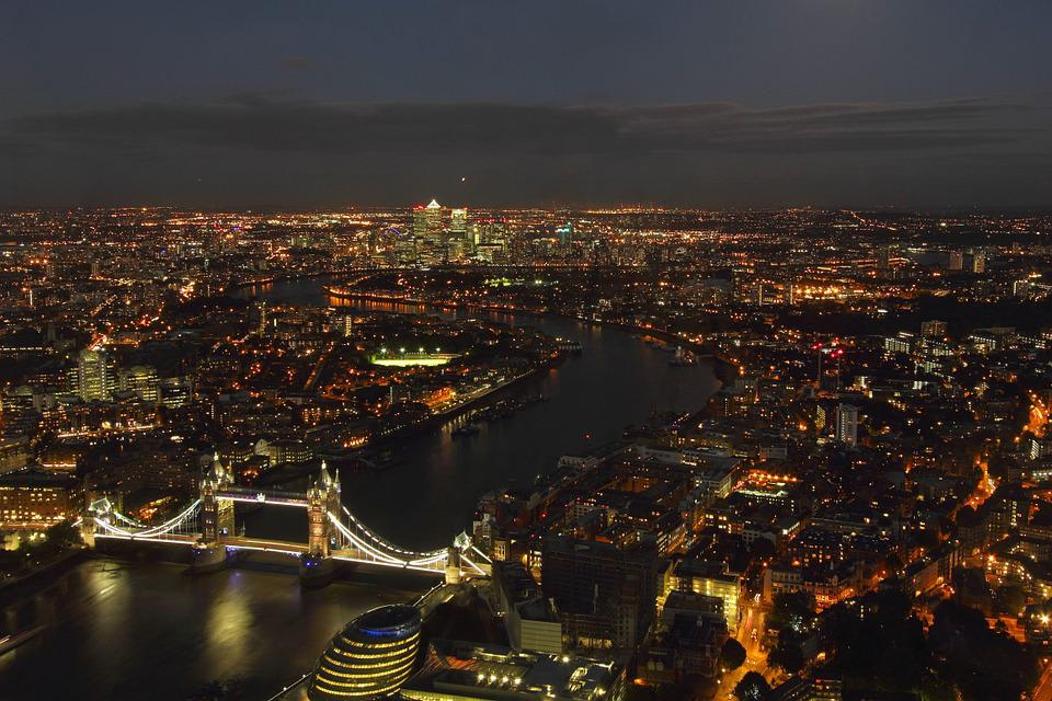 London, Night, City