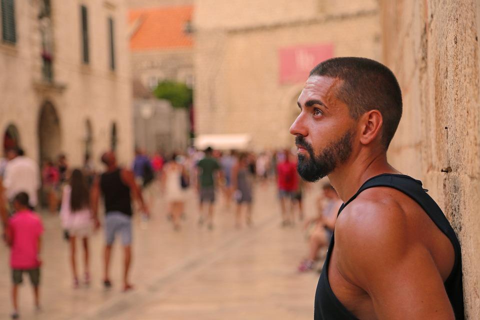 Man, Person, Male, Beard, Handsome, Summer, City