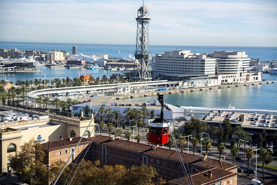 Barcelona, Port, Spain, Sea, City, Marina, Catalonia