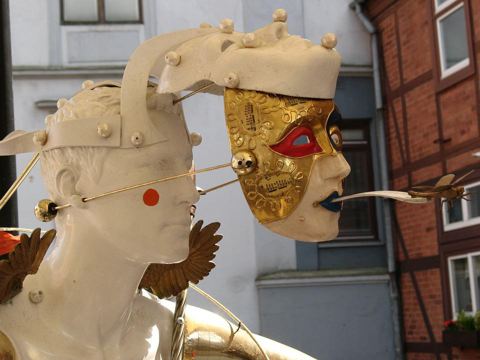 City, Lithuania, Klaipeda, Sculpture, Mask