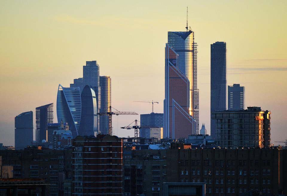 Moscow, Russia, City, Cityscape, Downtown, Modern