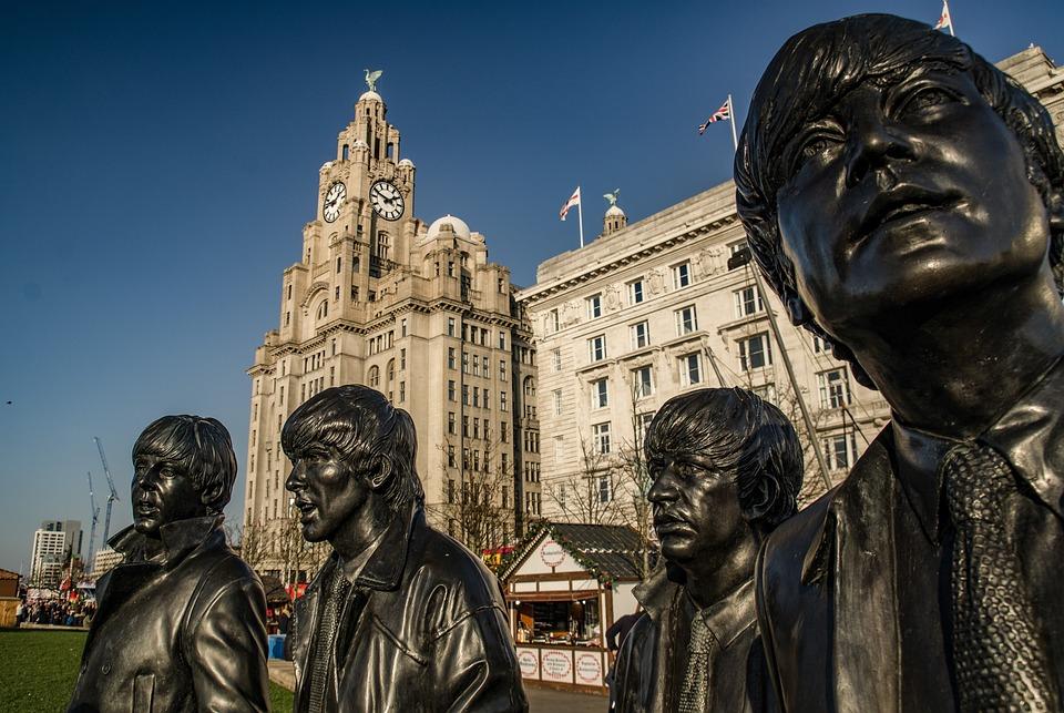 Beatles, Monument, Albert Docks, City, Liverpool