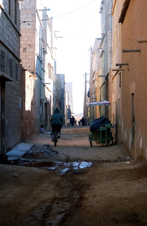 Morocco, Africa, Marroc, Cyclist, Bicycle, City, Street