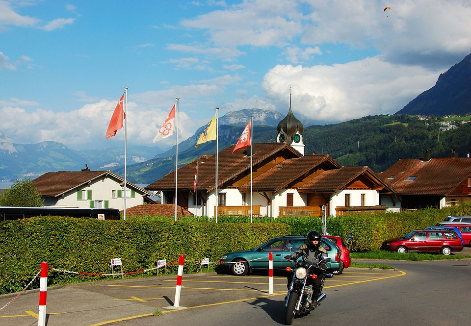 Lake Lucerne Region, Switzerland, Motorcycle, City