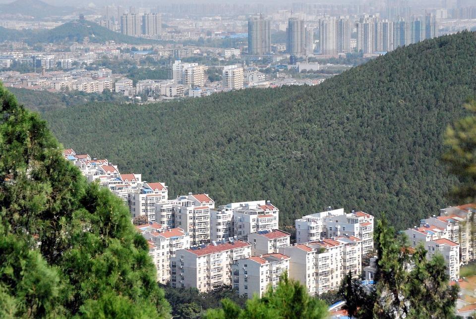 Xuzhou, City, China, Landscape, Mountain, Buildings