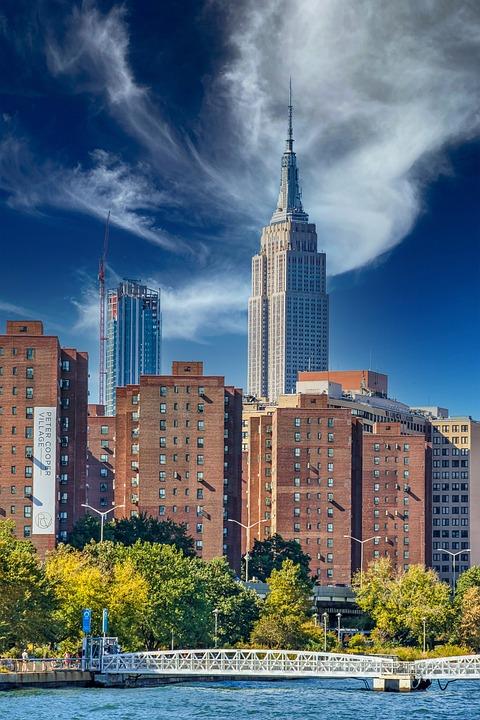 Empire State Building, New York, City, Cityscape