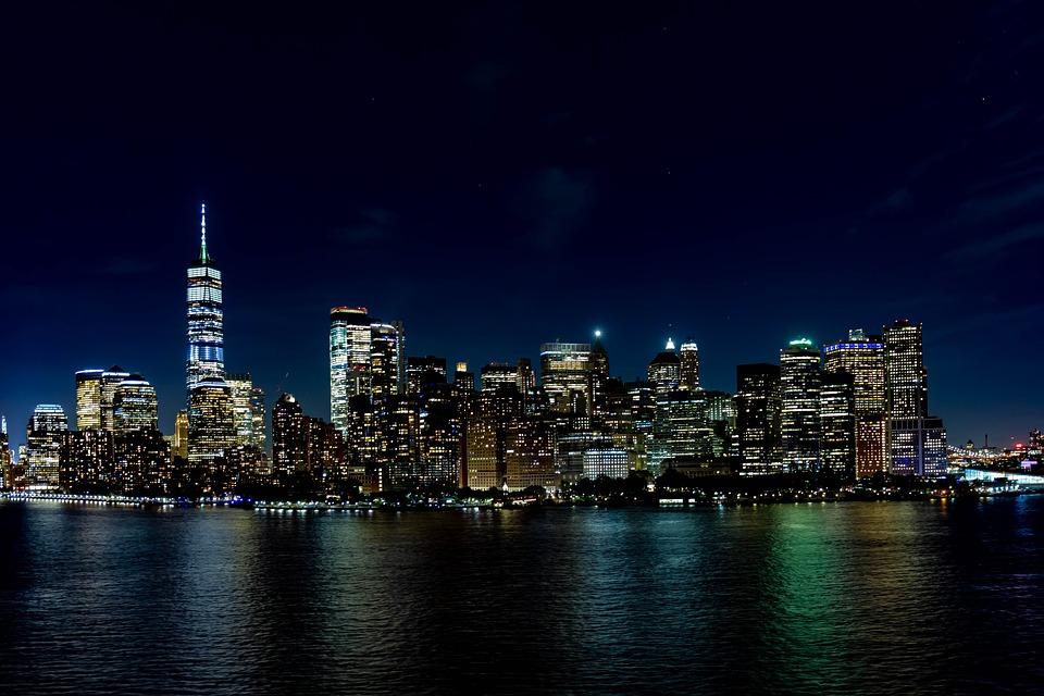 New York, Skyline, America, Skyscraper, Building, City