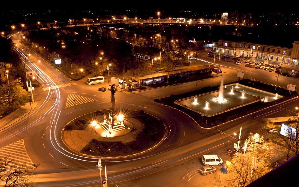 Night, City, Car, City At Night, City Night, Urban