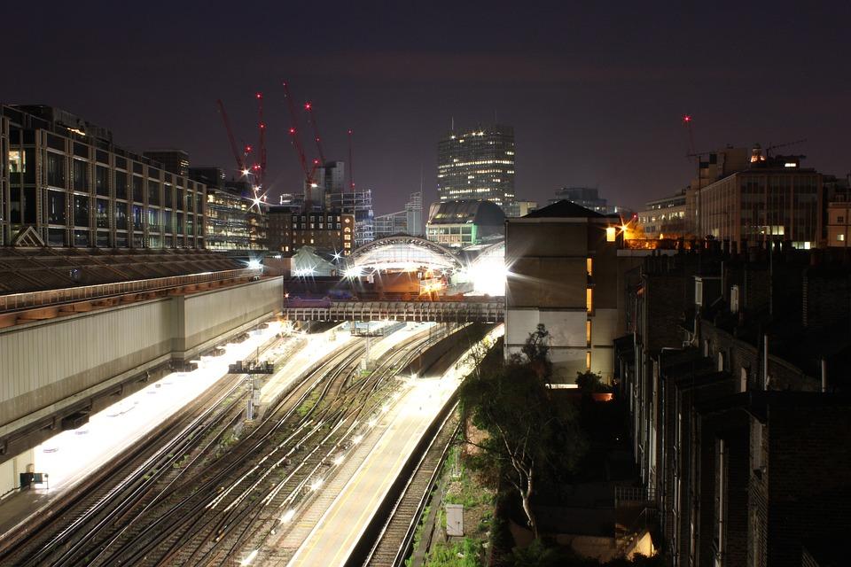 London, Night, Metro, City