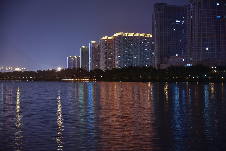 City, Night View, Taiyuan
