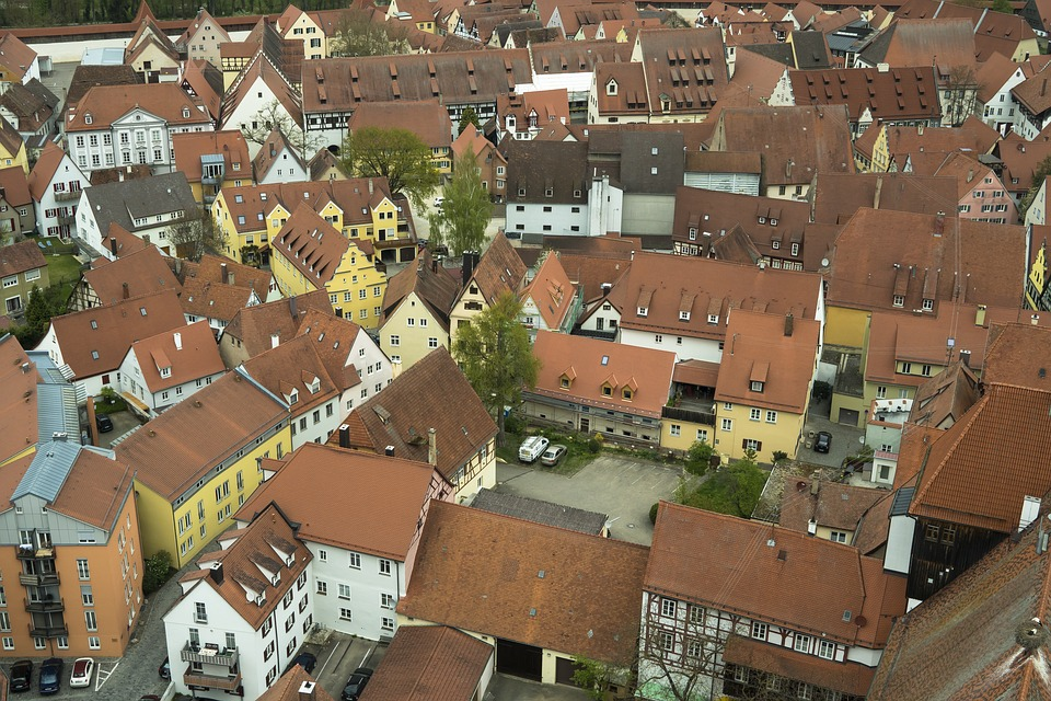Nördlingen, City, Homes, Truss, Architecture, Building