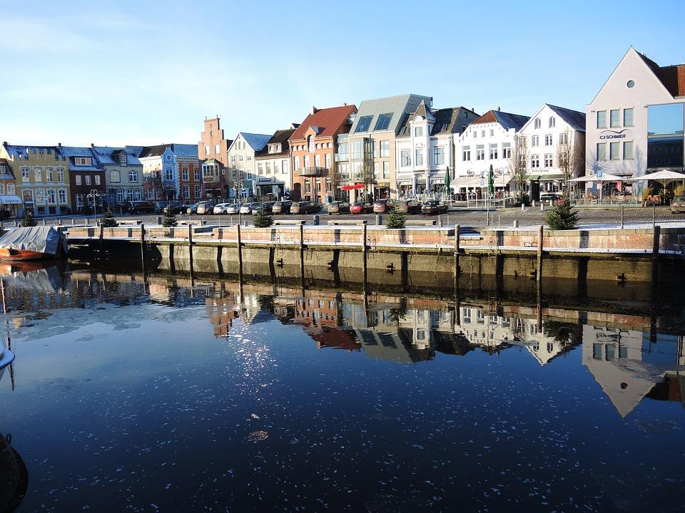 Husum, City, Norddeutschand, Germany, Winter, North Sea